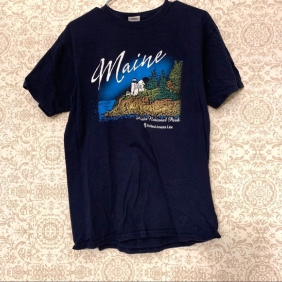Gildan Tops - Maine Acadia Vacation Travel Graphic T Shirt